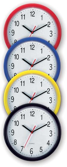 Černé nástěnné hodiny